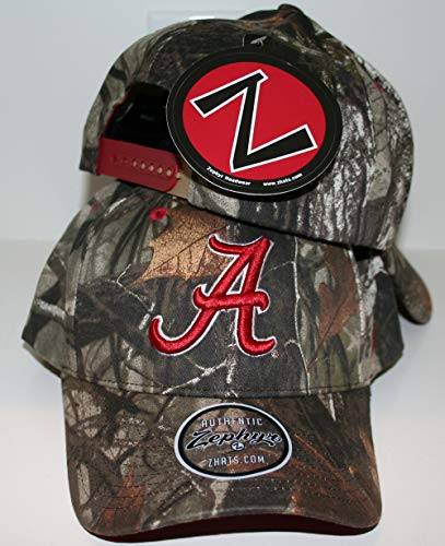 Zephyr University of Alabama Crimson Tide Top Remington Jagd Camo Erwachsene Herren/Damen/Jugendliche Verstellbare 100% Baumwolle Baseballmütze
