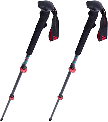 FWDS Trekking Pole 99% Fibre de Carbone Ultra-Léger Verrouillage Extérieur Escalade Montagne Baton Canne Canne équipement Flagship (Deux Packs)