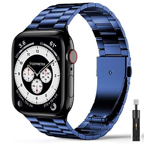 Cinturino ultra sottile per cinturino Iwatch Cinturino in acciaio inossidabile per cinturini Apple Watch Se serie 6 5 4 3 44mm 40mm 42mm 38mm Cintura blu B e strumento, serie 6 Se 40mm