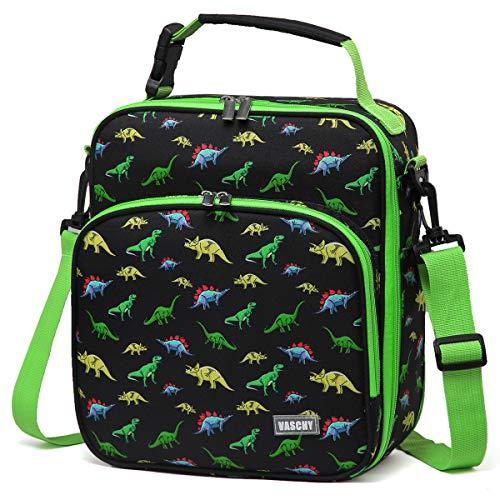 VASCHY Lunchtasche Kinder, Neopren Isoliert Dinosaurier Lunch Tasche Jungen zur Kindertagesstätte Kindergarten Lunch Tote für Picknick Schule