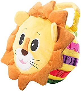 Buckle Toy - Benny Lion - Sensory Activity Toy - Fine Motor Skill and Cognitive Skill Development - Zipper Storage for Sma...