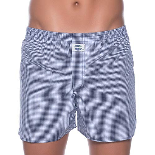 D.E.A.L International boxershorts blauw en wit geruit