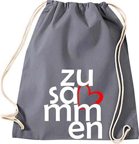Shirtstown - Bolsa de deporte (bolsa de gimnasio, bolsa de deporte, bolsa de deporte, bolsa de deporte, bolsa de deporte, bolsa de deporte, bolsa de deporte, bolsa de deporte, bolsa de deporte, bolsa de deporte, bolsa para agradecimiento, cohesión, emergencia, sociedad), color gris, tamaño 37 cm x 46 cm