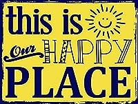 なまけ者雑貨屋 This Is Our Happy Place ブリキ看板 ガレージ アメリカン ホットロッド メタルプレート レトロ アンティーク 復古調 ブリキ看板 ガレージ アメリカン 復刻版 アンティーク風 雑貨 おしゃれ インテリア