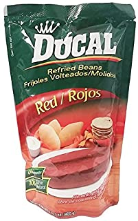 Ducal Refried Red Beans 14.1oz / 400grs Frijoles Rojos Volteados (3 Pack)
