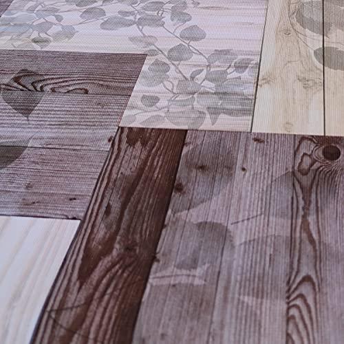 Hule | Mantel Mesa Antimanchas | Mantel Mesa Comedor y Mesa Cocina PVC Impermeable, para Interior y Exterior Diseño Madera Reciclada Granero (140_x_140_cm)