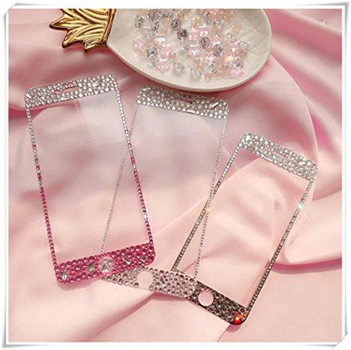 One Life ,one jewerly Pantalla de cristal templado, protector de pantalla de cristal rosa claro, cristal hecho a mano