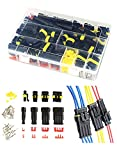 Twippo 352Pcs Waterproof Car Electrical Connector Terminals Automotive Electrical Wire Connector Plug Kit 1/2/3/4 Pin Connectors Male and Female