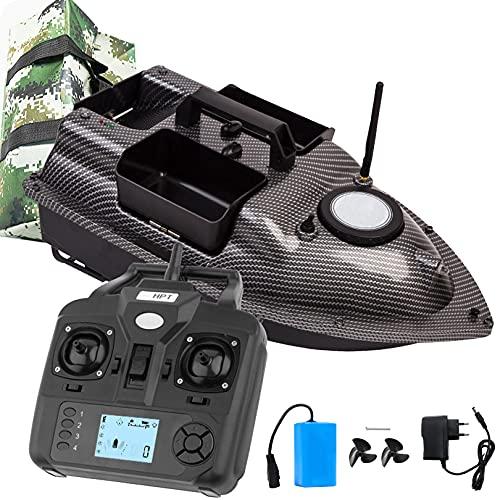 Aocay Barco de Cebo de Pesca 500m con GPS, Barco Cebador Teledirigido de Pesca, Cebo de Liberación de Punto Fijo de Crucero de 500 M, Barco RC Cebo con Indicador LED para Pesca Nocturna