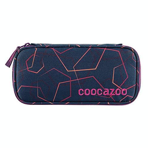 """Coocazoo Federmäppchen PencilDenzel """"Laserbeam Plum"""" lila, Schlamperetui, Geodreieckfach, Stundenplanfach, herausnehmbarer Stiftehalter, zusätzliches Reißverschlussfach"""