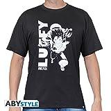 One Piece Luffy Running Camiseta Negro S