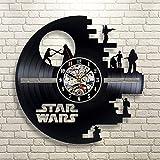 La Guerra de Las Galaxias Reloj de Pared de Vinilo Star Wars Reloj de Pared Decoración casera Decoración de la Pared...