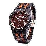 BEWELL orologi legno uomo orologio da polso al quarzo analogico con cinturino in legno W109A