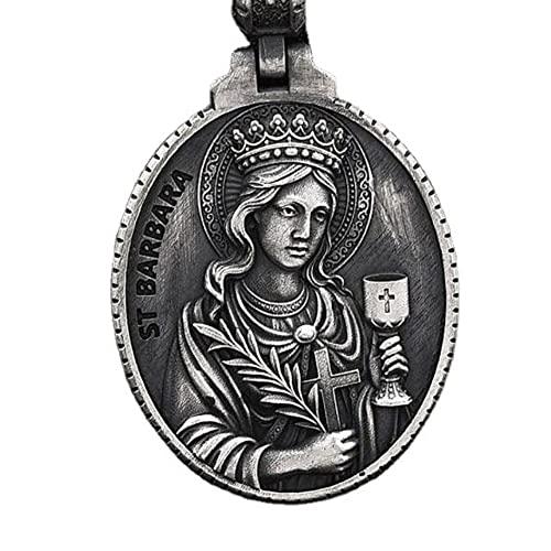HHW Virgen María Conmemorativo Medalla Católico Colgante Neckla Cristiano Maria Sagrado Corazon Colgante Estilo Vintage Religioso Serie Oración Insignia Hombres Y Mujeres Accesorios,I