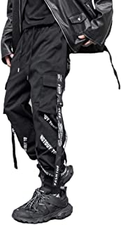 Hello MrLin Men's Techwear Pants Baggy Streetwear Hip Hop Joggers Cargo Trousers Punk Pants