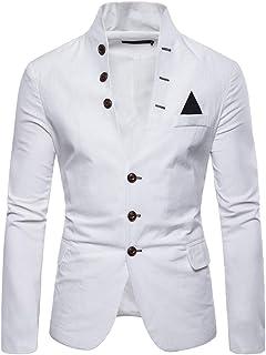 Mens Suit Coat Jacket Coat Autumn Winter Long Sleeve Stand Collar Jacket Overcoat Goosun Slim Fit Blazer 3 Button Suit Spo...