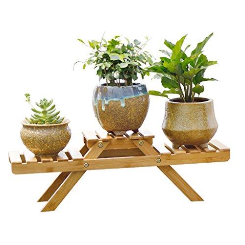 QFF Supports de fleur de bambou pliable au sol pour balcon