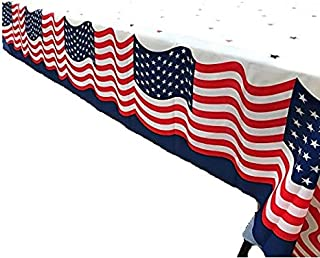 Stars and Stripe Patriotic Party Table Cover 108x54 Inches Pack of 3
