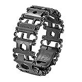 LEATHERMAN, Tread Bracelet, The Original Travel Friendly Wearable Multitool, Black