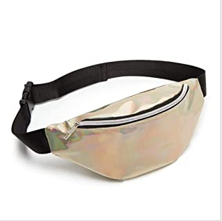 YWSCXMY-AU Sequin Women Waist Bag Fanny Pack Running Zip Belt Money Pouch Holiday Bag (Color : Gold)