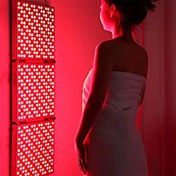 XISURE 45W Red Led Light Therapy, Deep Red 660nm and Near Infrared 850nm Led Light Therapy Panel for Muscle Pain Relief, Improved Blood Circulation and Skin