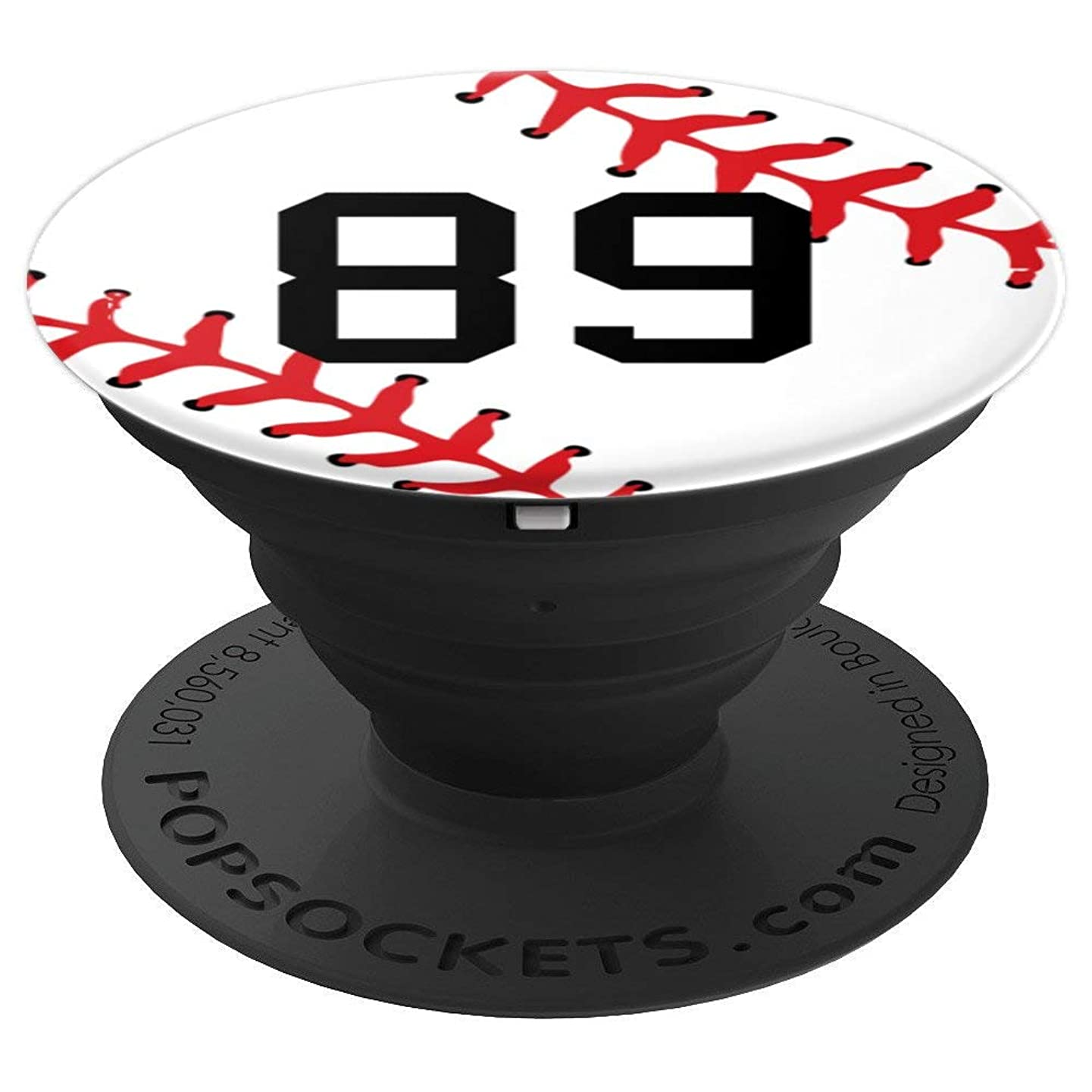 Baseball Number 89 Jersey Uniform Gift Player Gift for Boys - PopSockets Grip and Stand for Phones and Tablets