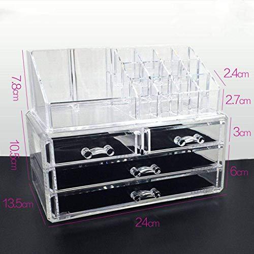 Cosmetische Storage Box, Desk Organizer transparant acryl High Capacity for Bedroom-Medium6706 Mooie en praktische cosmetische opbergdoos. (Size : Medium6701)