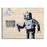 Poster Massive Attack Robert Graffiti Leinwand Malerei