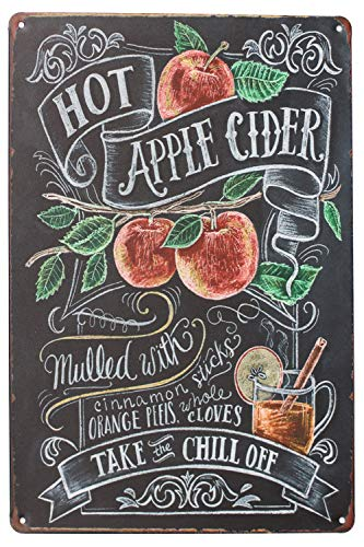 Fruit Wine Apple Juice, Metal Tin Sign, Vintage Art Poster Wall Decor
