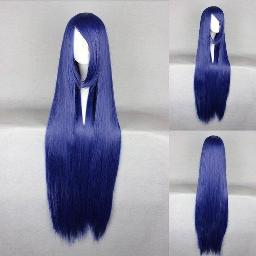 Ladieshair Cosplay Perücke blau 100cm glatt Naruto Hyuuga Hinata