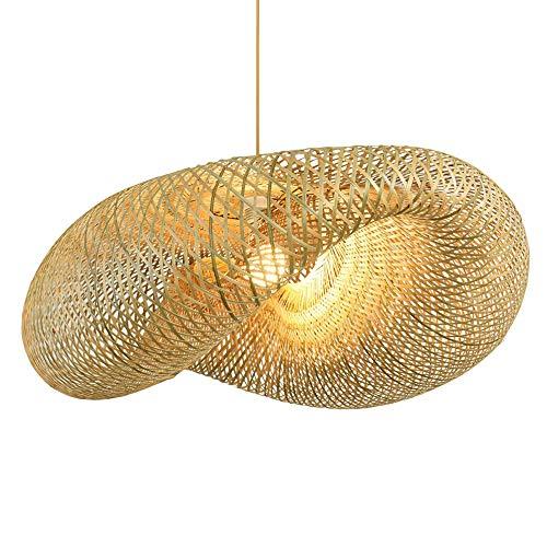 CSSYKV Lámpara De Bambú De Estilo Japonés Lámpara De Techo De Bambú De Gran Tamaño Lámpara De Casa De Familia Restaurante Simple Dormitorio Balcón Lámpara Lámpara De Arte De Bambú Creativa E27