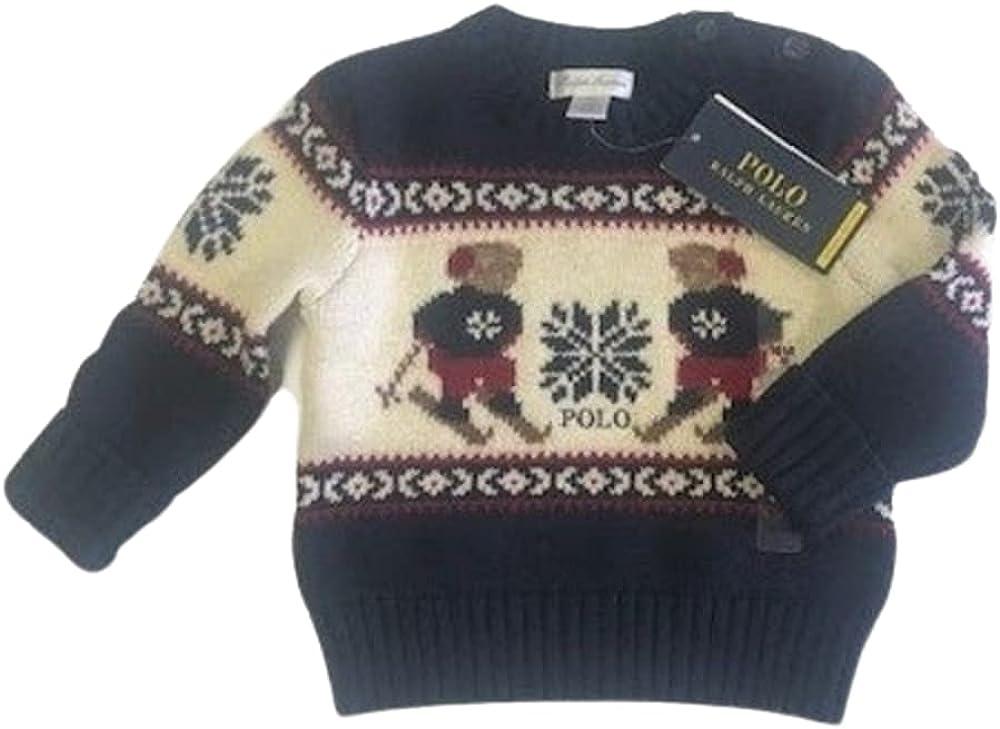 Polo Ralph Lauren Grey Heather Boys Crochet Crew Neck Sweater, US 18M