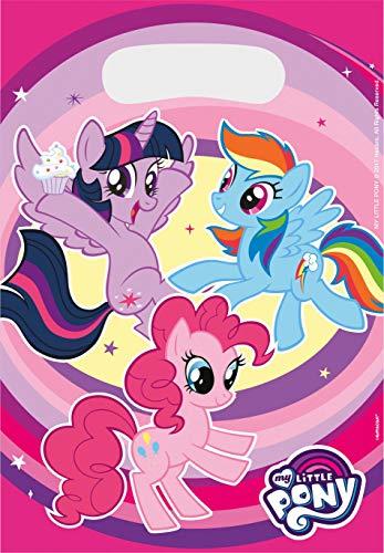 Amscan 9902513 - Partytüten My Little Pony, 8 Stück, 23 x 16,5 cm, Pferde, Mitgebsel, Kindergeburtstag