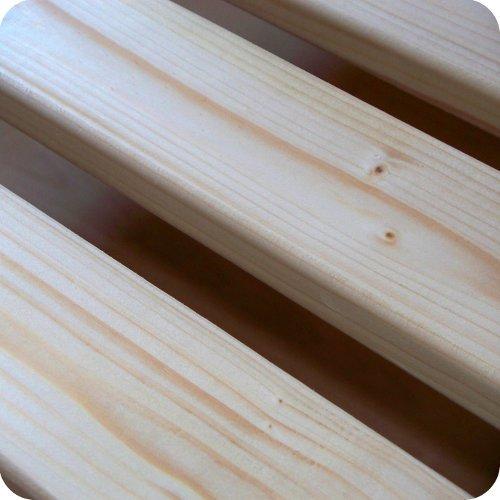 TUGA-Holztech unbehandeltes Naturholz Rollrost Rolllattenrost Lattenrost 100x220cm bis weit über 200Kg Flächenlast Qualitätsarbeit aus Deutschland unbehandelt frei von Chemie reines Naturprodukt 5 Jahre Garantie