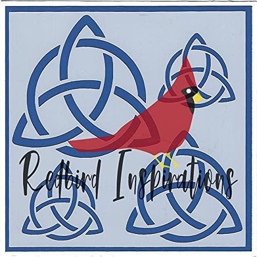 Redbird Inspirations Original Stencil, 6x6 Inch, Celtic Trinity Knot 2