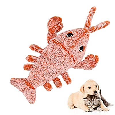 Beewarm Cat Toys For Indoor Cats Shrimp Realistic Plush Toy Wagging Interactive Cat Toy Catnip…