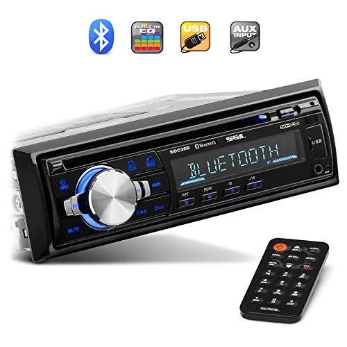 Sound Storm Laboratories SDC26B Car Stereo - Single Din, Bluetooth Audio and Hands-Free Calling, Built-in Microphone, MP3 Player, CD, USB Port, AUX Input, AM/FM Radio Receiver, Wireless Remote Control