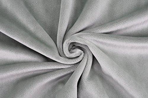 kullaloo Microfaser-Plüsch Stoff Shorty als Meterware in vielen Farben - 1,5mm Florlänge, EN71-3 & EN 71-9 Zertifiziert (grau)