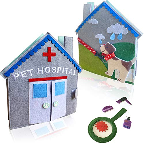 MOVEBO- Quiet Book Baby Book (Pet Hospital),Baby Quiet Book-Busy Book for 3 Year Old Boys&Girls - Travel Toy,Best Gift from Grandparents for Babies