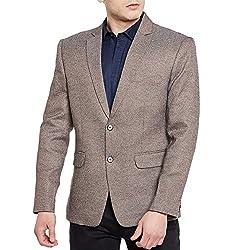 Wintage Mens Premium Rayon Notch Lapel Two Button Coat Blazer Jacket