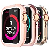 MARGE PLUS for Apple Watch Screen Protector 44mm 40mm 38mm 42mm, [3 Style] Case for iWatch Series 5 Series 4 Series 3,Soft TPU All Around Cover Case & Shock-Proof Bumper Case