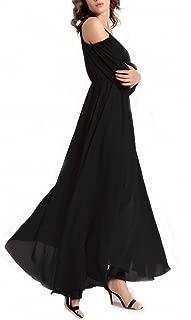 Womens Off Shoulder Long Chiffon Casual Dress Maxi Evening Dress