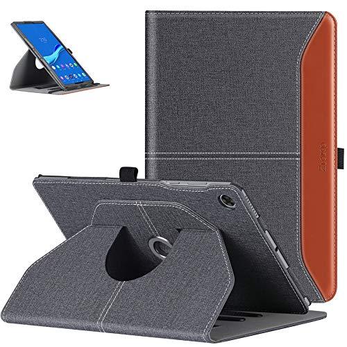 ZtotopHülle Schutzhülle für Lenovo Tab M10 FHD Plus 10,3 Zoll 2020, um 360° drehbar, mit automatischer Weckfunktion/Schlaffunktion für Lenovo Tab M10 Plus TB-X606F, Denim, Schwarz