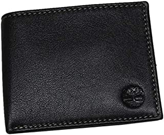Timberland Men's Leather Passcase Wallet Black