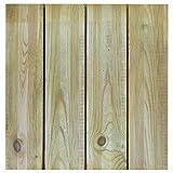 Terrassen-Fliesen Holzfliesen für den Balkon und Garten 50x50cm 1m² (4 Stück) | Holz-fliesen von Nordje (grün - französisches Profil)
