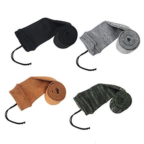 Tourbon Olio di silicone trattati Knit tessuto Shotgun Fucile Storage Gun Sock 52 pollici, confezione da 4 pezzi