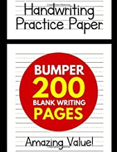 Handwriting Practice Paper for Kids: Bumper 200-Page Dotted Line Notebook (Handwriting Practice Paper Notebook / Blank Handwriting Practice Books For Kids)