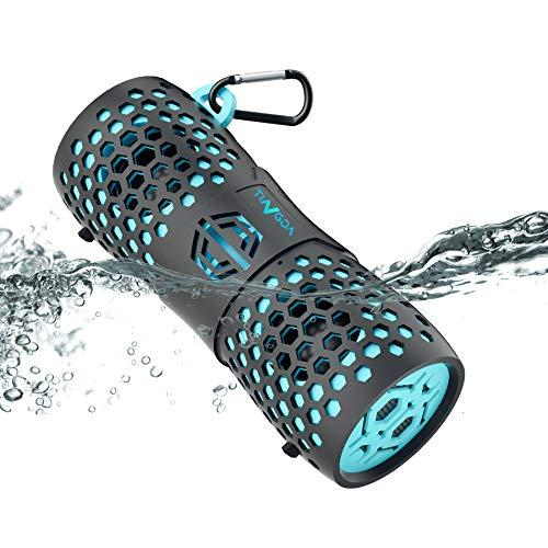 Tingda Altavoz Portátil Bluetooth, Altavoces inalámbrico Impermeable IP67 Parlante, Conexión AUX, con Micrófono y Manos libres, 12 vatios con bajo, para exteriores, ducha, baño, coche, fiestas, viajes