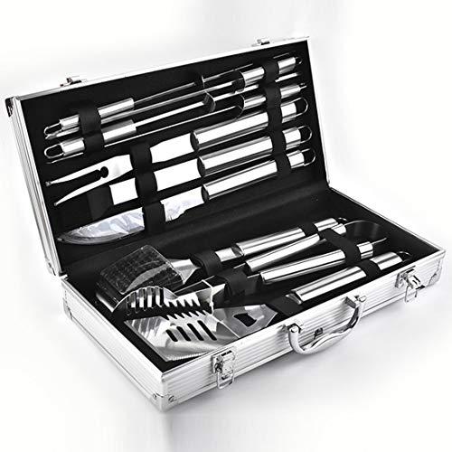 ZH1 Grilling Utensil Set, 10 Stück Grill Werkzeuge, BBQ-Werkzeuge Grill Werkzeuge Set, Grill-Reinigungs-Kit, Grillzubehör