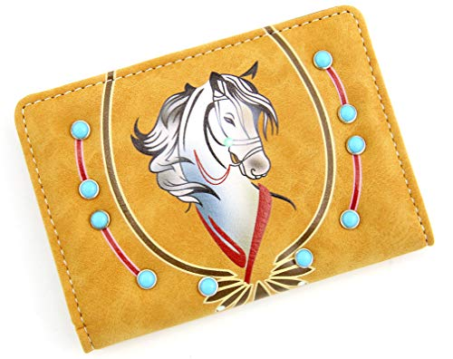 ANGIE /& ALLIE Travel Wallet Horse Printing Rhinestone Passport Cards Holder